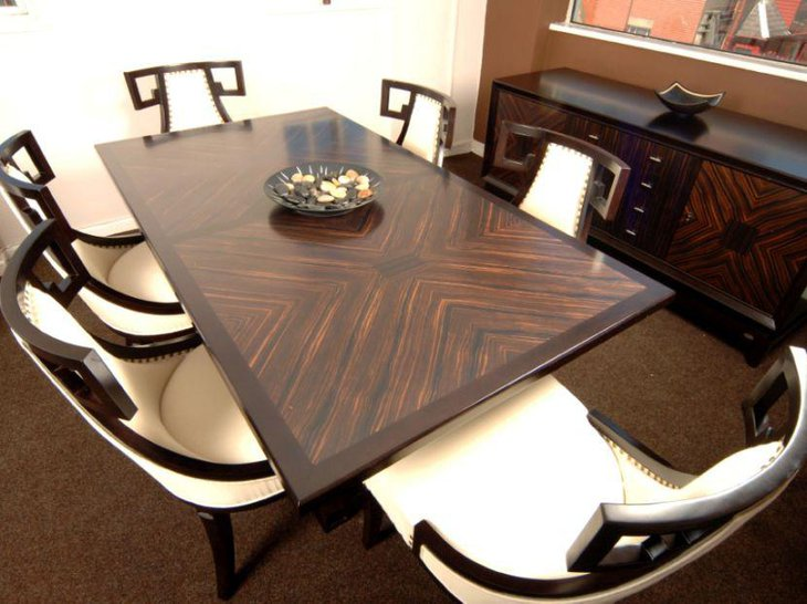 6 Seater Macassar Ebony Penrose Dining Table