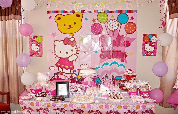A Hello Kitty cake themed baby shower 1