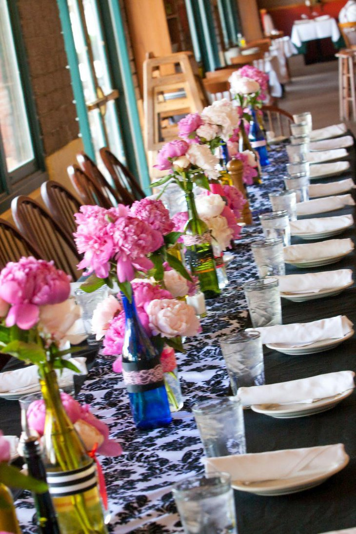 A lovely looking Italian tablescape using flowers
