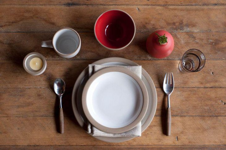A rustic and simple breakfast table