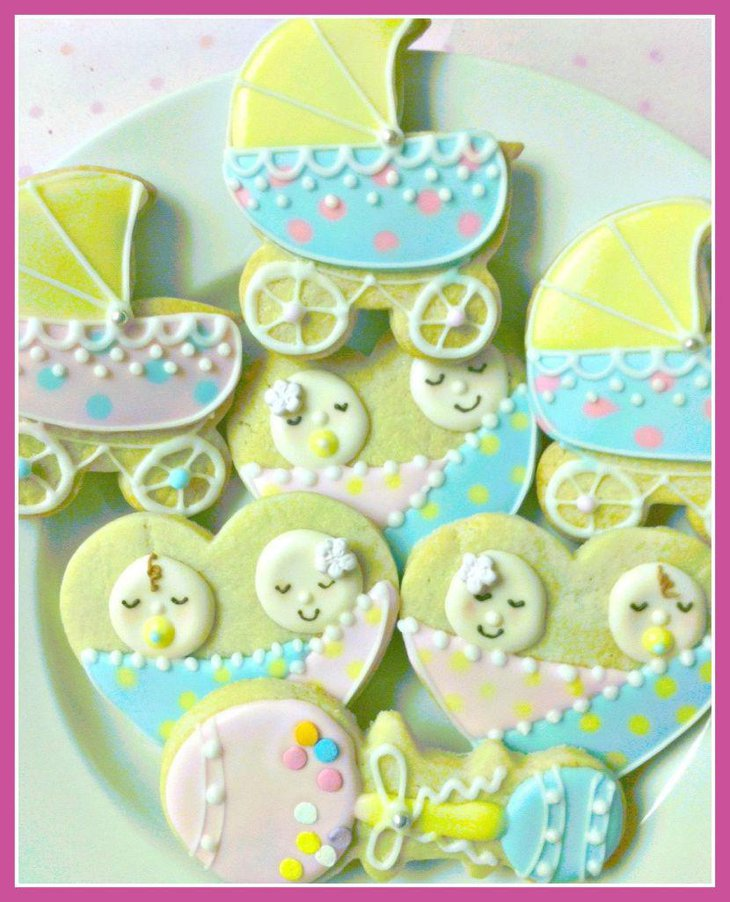 33 baby shower ideas for twins twin baby shower themes for Baby shower decoration ideas for twins