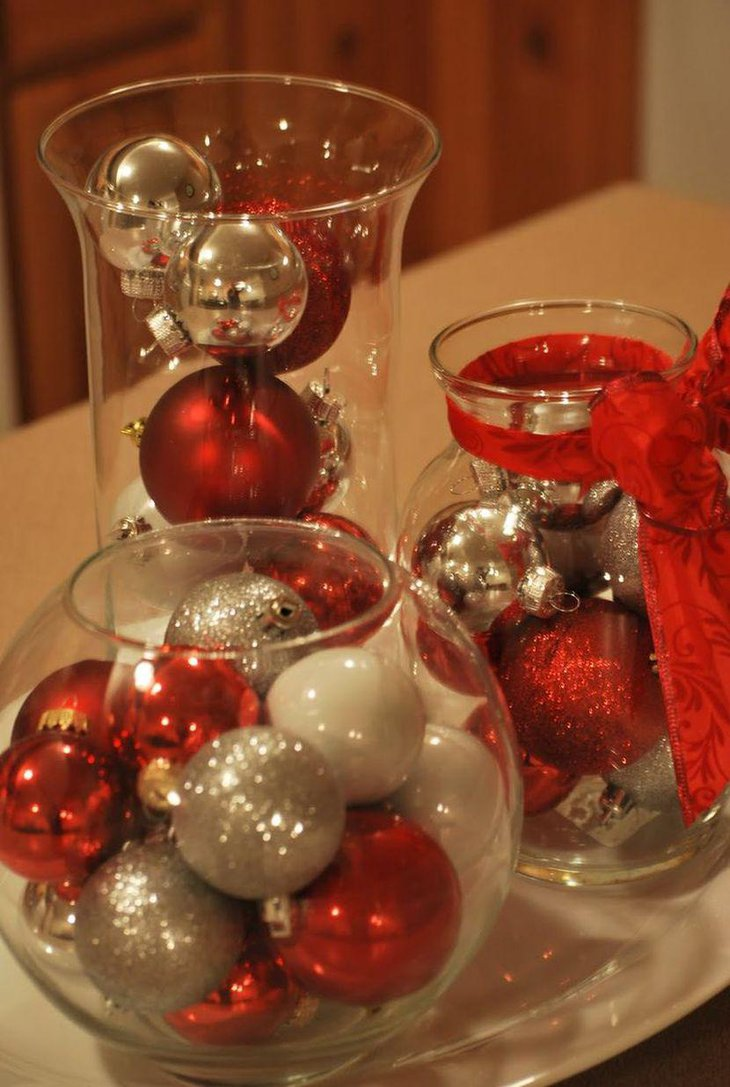 33 red and silver table setting ideas for christmas table
