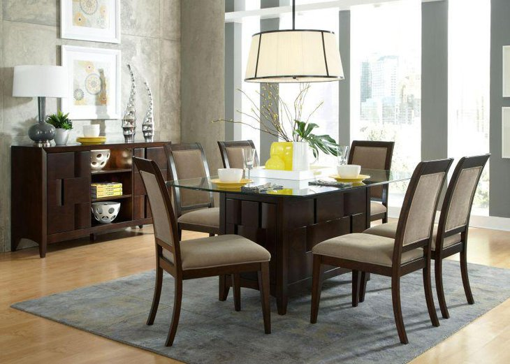rectangle glass dining room table. Alluring Rectangle Tempered Glass Dining Room Table 39 Modern Glass Dining Room Table Ideas  Decorating