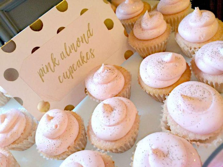 blush pink wedding cake with cupcakes 35 delicious bridal shower desserts table ideas table 12058