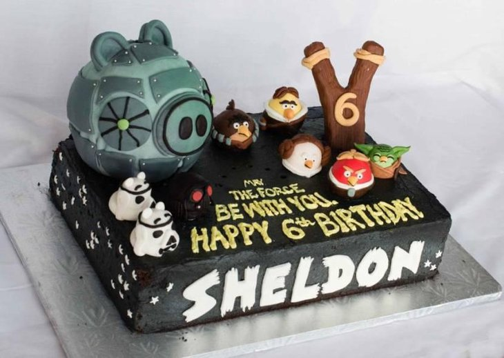 Angry birds Star Wars birthday cake
