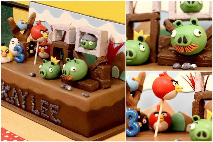 35 cute 1st birthday party ideas for girls table for Angry birds decoration ideas