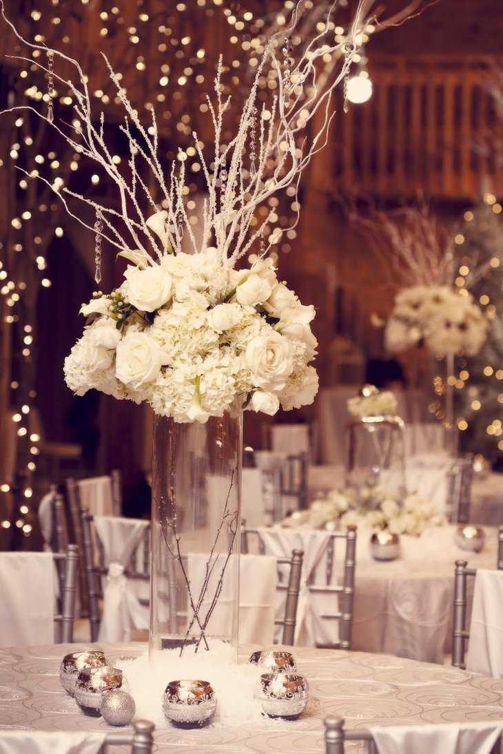 Appealing Winter Wedding Centerpieces