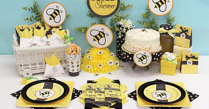 Attractive Bee Themed Baby Table Shower Decorations