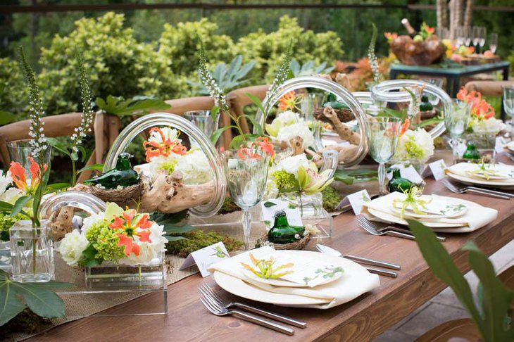 Attractive Bridal Shower Table Setup