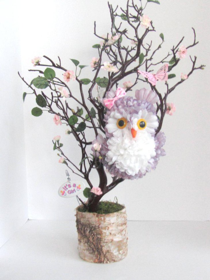 Awesome owl branch centerpiece