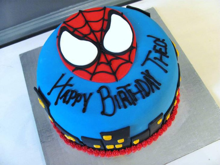 Awesome Spiderman Birthday Cake