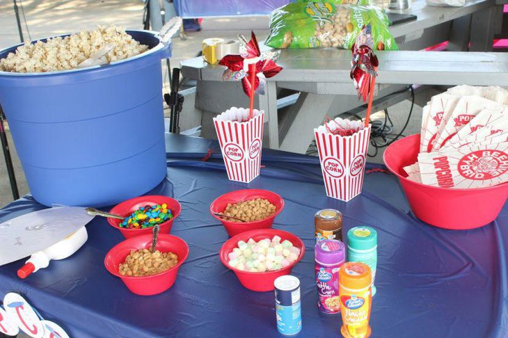 Baseball themed retirement party table