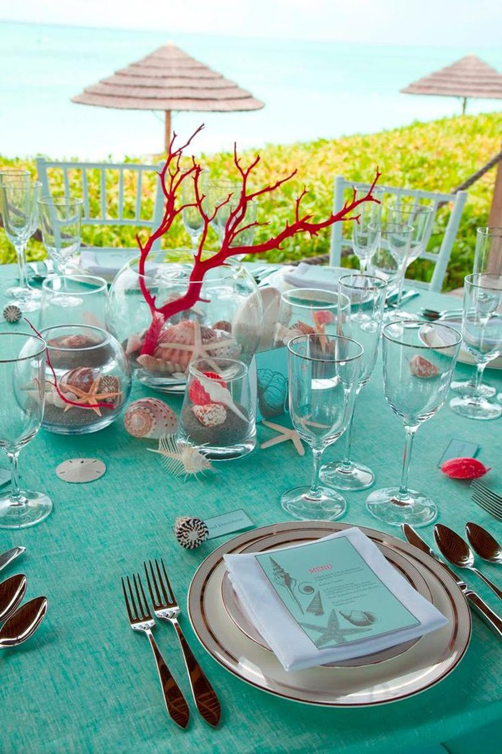 Beach Themed Bridal Shower Party Decor