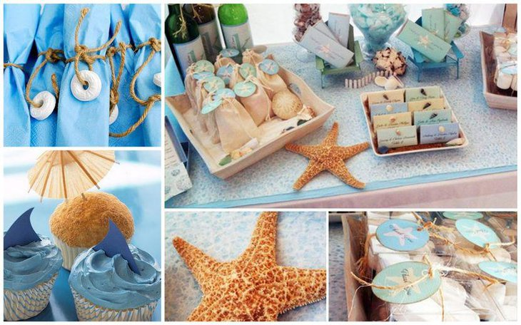 Beach themed retirement party table