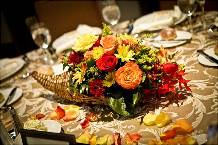 Beautiful Autumn Wedding Centerpieces