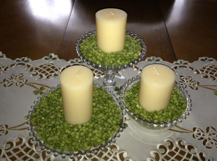 Beautiful candle decor for St Patricks Day