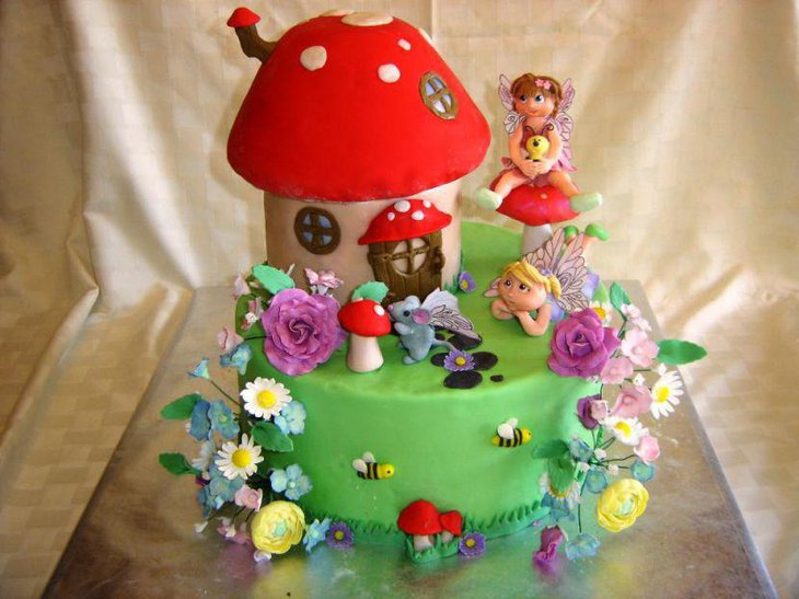 Beautiful Fairy Birthday Cake For Girls