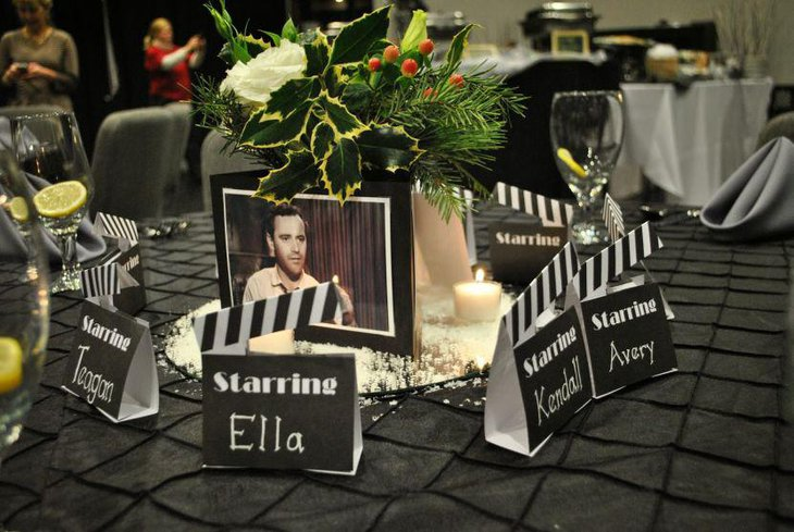Beautiful Hollywood themed centerpiece