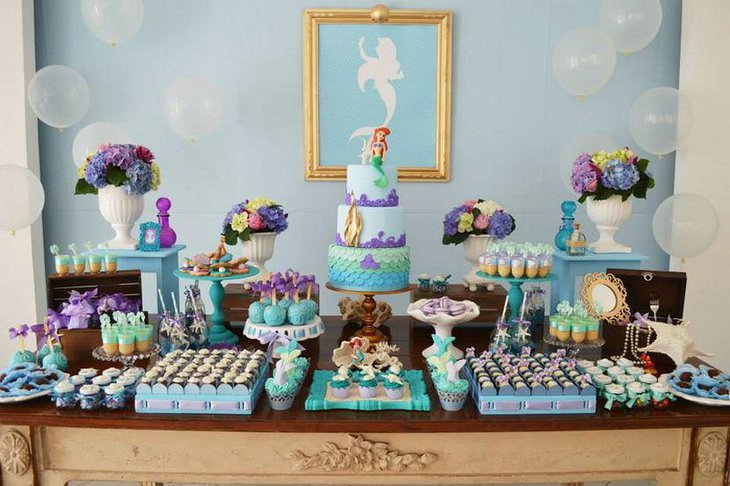 33 Gorgeous Mermaid Baby Shower Ideas Table Decorating Ideas