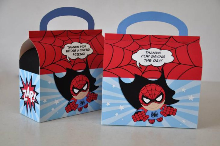 Beautiful Spiderman Favor Boxes