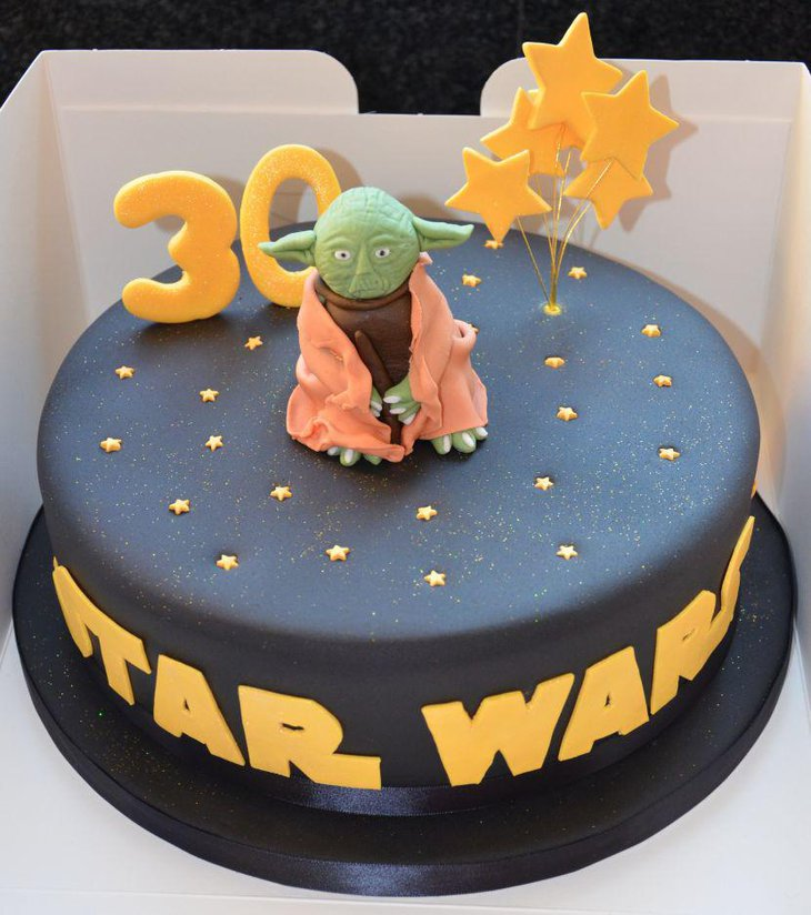 Beautiful Star Wars Birthday Cake