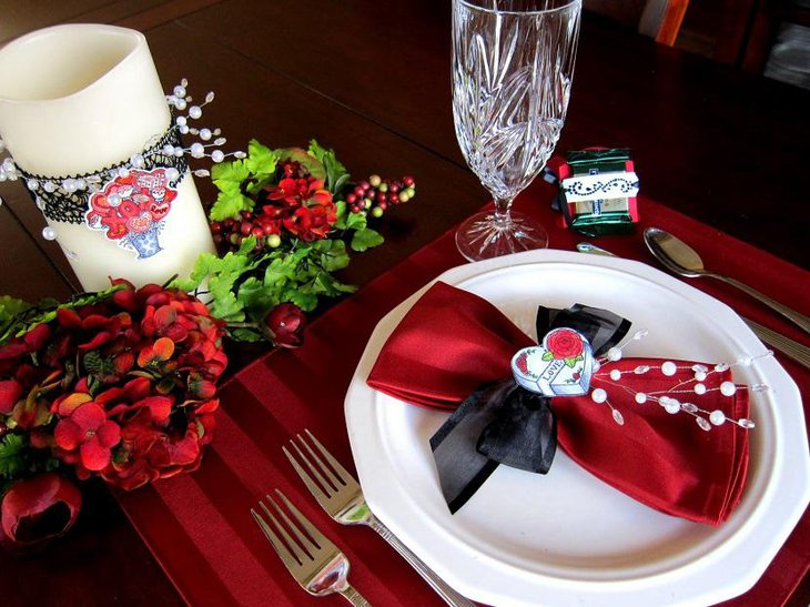 Beautiful Yet Simple Valentine Table Decoration