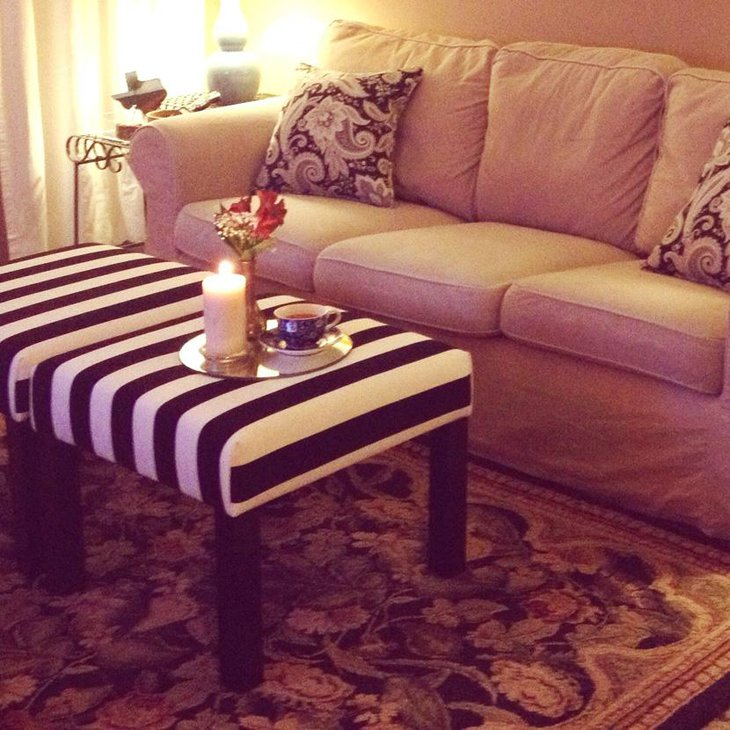 Black and White Cushioned DIY Coffee Tables