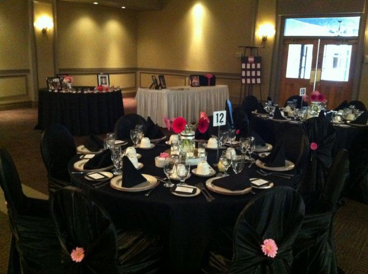 35 Black And White Wedding Table Settings Table Decorating Ideas