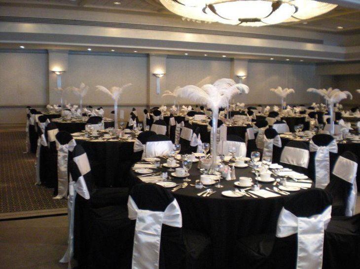 black wedding table decorations 35 black and white wedding table settings table 1892