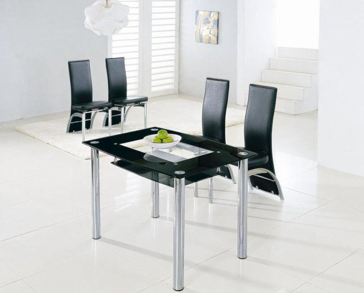 39 modern glass dining room table ideas table decorating for Best dining room tables uk