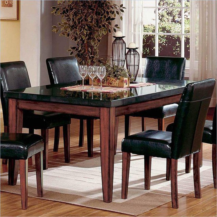 39 elegant granite dining room table ideas table for Dining room looks