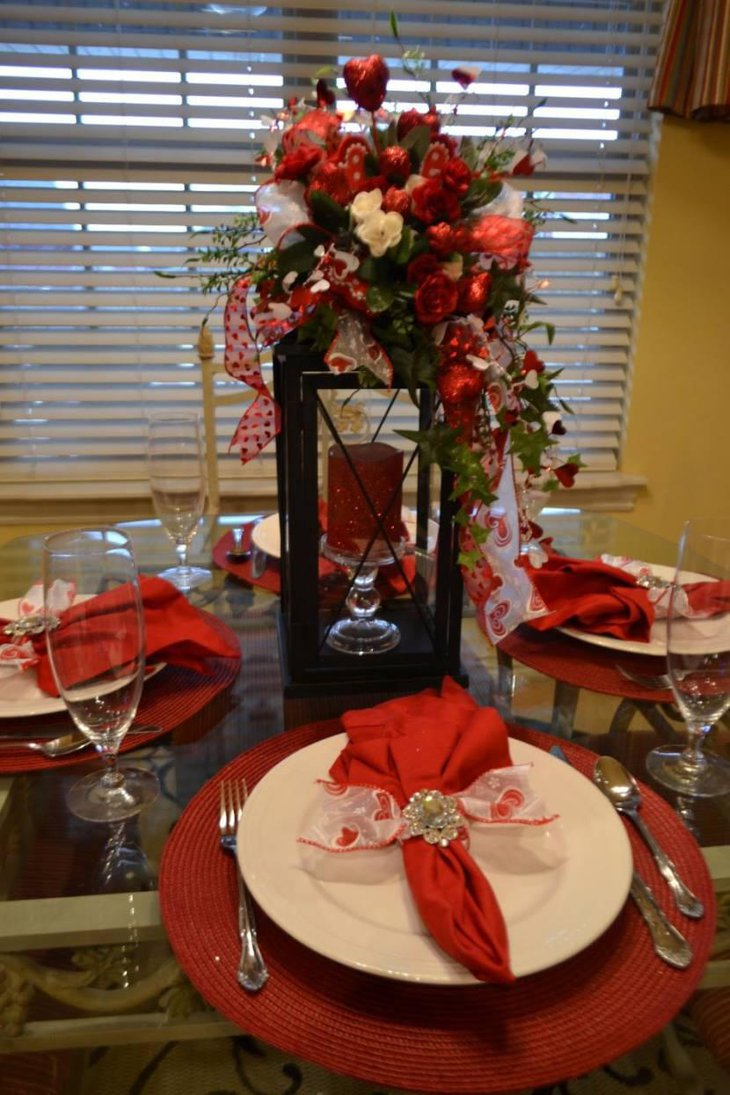 33 amazing red and white centerpieces for weddings table for Table design for valentines day