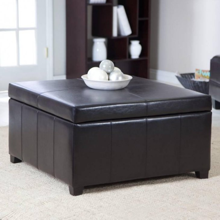 39 modern coffee tables with storage table decorating ideas Square leather coffee table