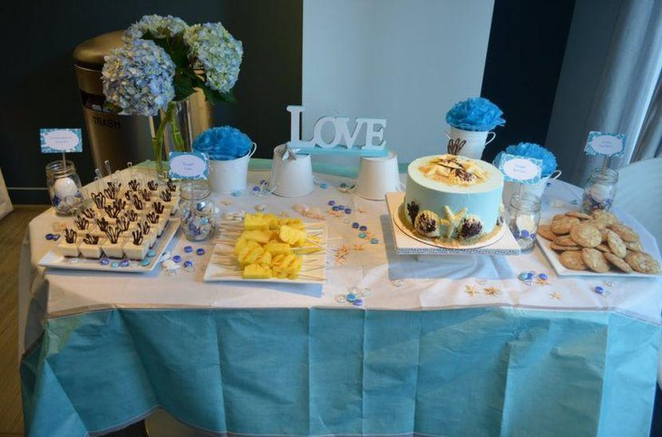 35 Delicious Bridal Shower Desserts Table Ideas