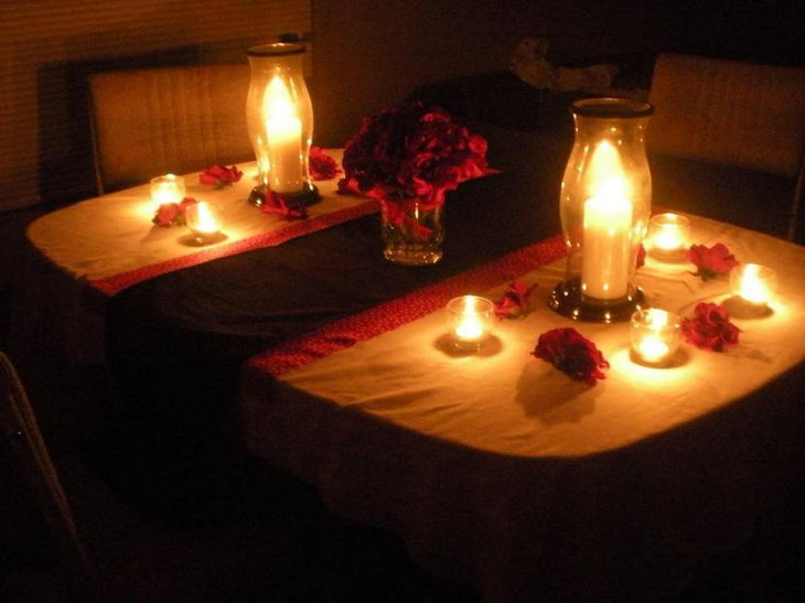 Candle lights for a perfect romantic table setting 1