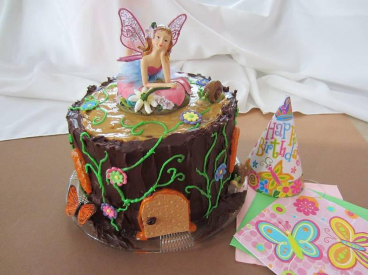 Chocolate Fairy House Cake