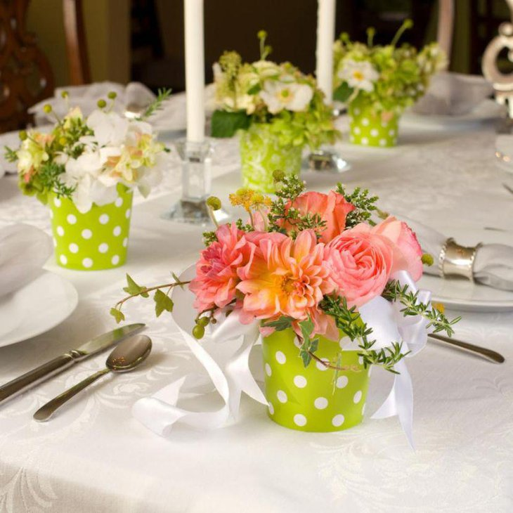 Choose such table centerpiece ideas that make use of seasonal flowers as these are cheaper