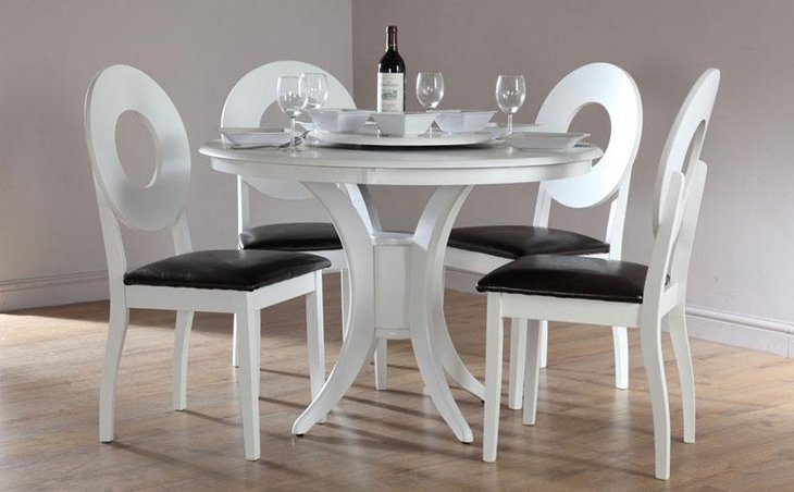 Classy White Round Dining Table Ideas