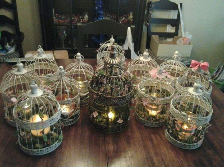 birdcage wedding decorations 35 diy wedding centerpieces table decorating ideas 1727