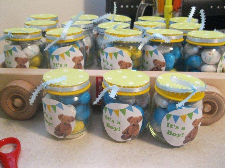 Cute mason jar baby shower ideas table decorating