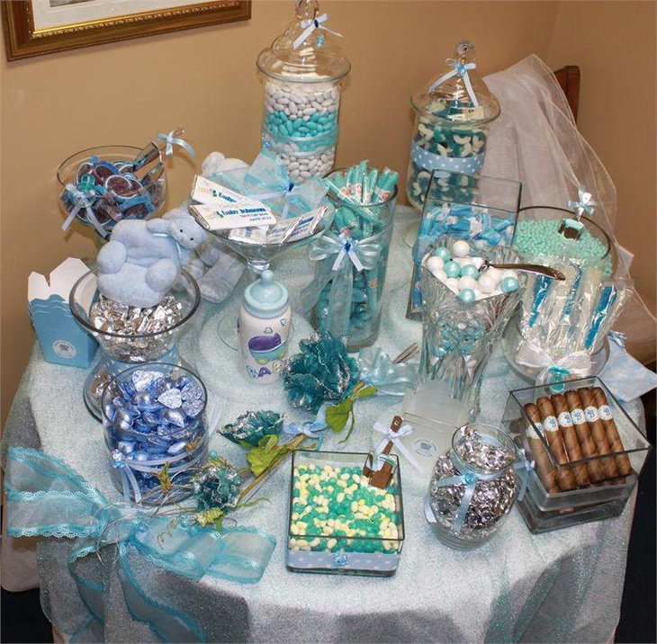 Candy For Baby Shower Ideas: 33 Blue Theme Party Candy Table Ideas