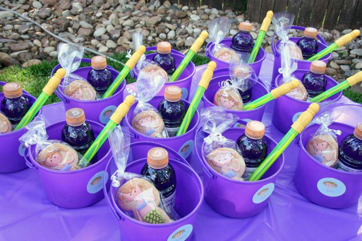Cute birthday party purple favors for kids