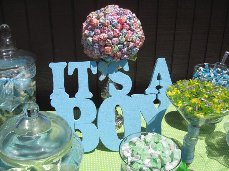 31 baby shower candy table decoration ideas table decorating ideas. Black Bedroom Furniture Sets. Home Design Ideas