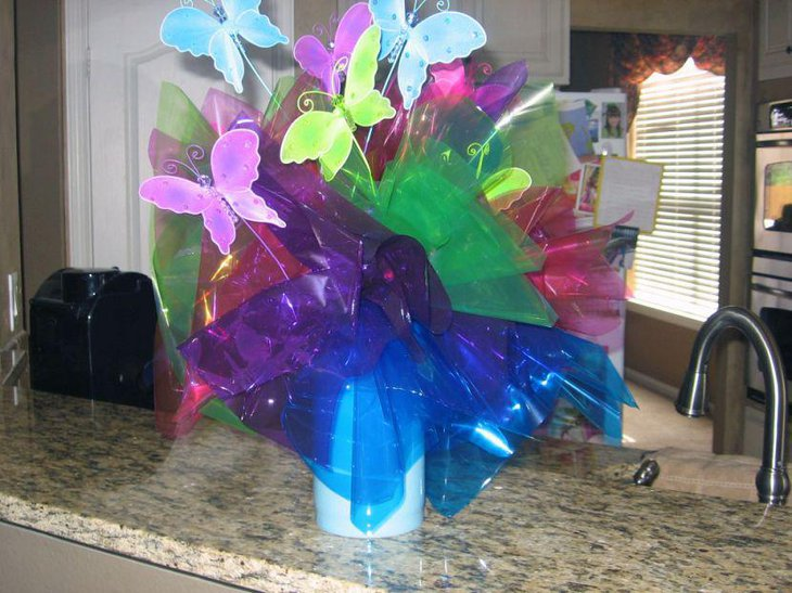 Cute butterfly centerpiece for summer birthday table