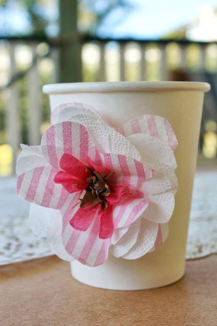 35 ultimate diy table ideas for a birthday party table for Cup decorating ideas
