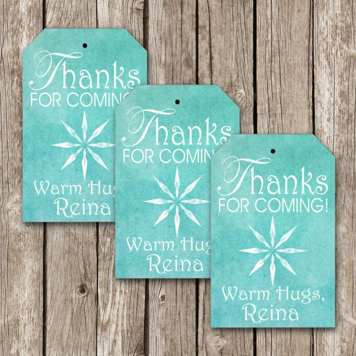 Cute Frozen party favor luggage tags