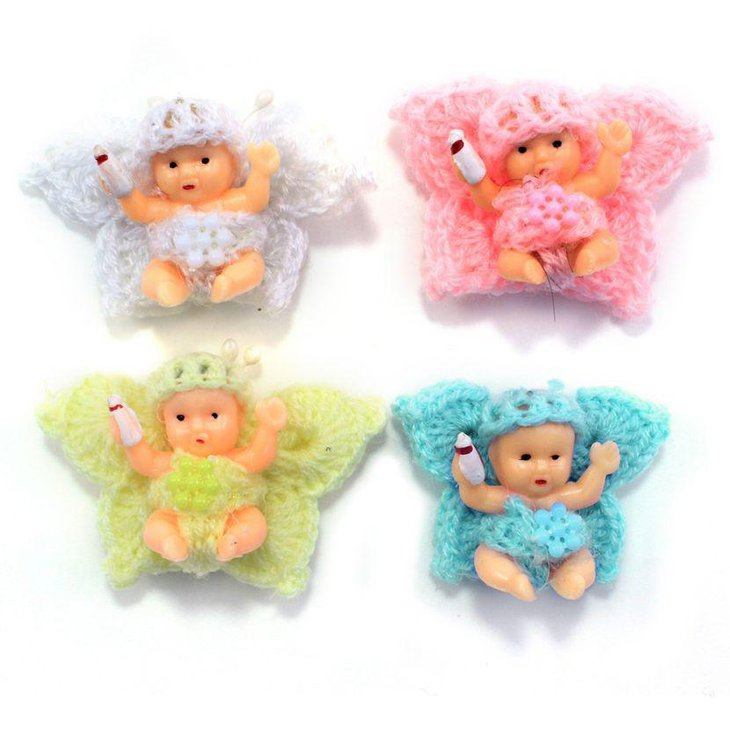 Cute knit crochet butterfly baby shower favors