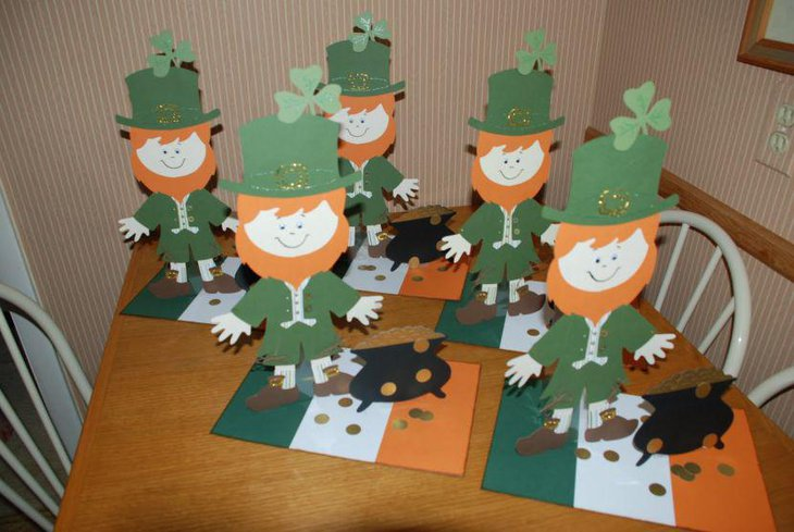 Cute paper cut out decorations for St Patricks Day