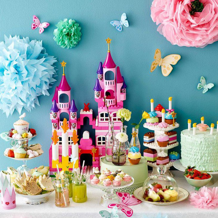 Cute Princess themed birthday tablescape