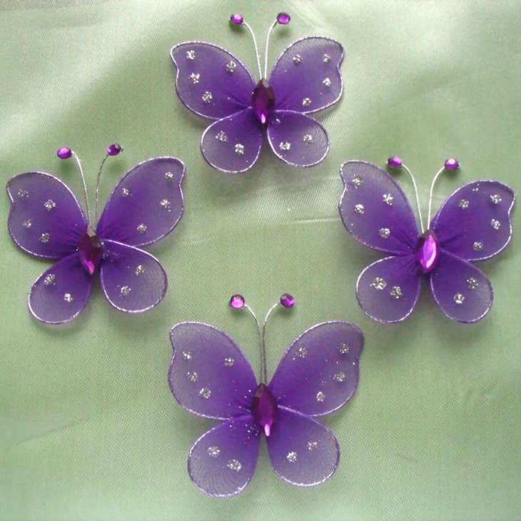 Cute purple butterfly party favors